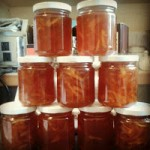 Marmalade in jars