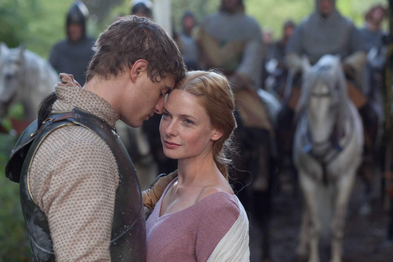 Rebecca Ferguson and Max Irons in episode 1 of The White