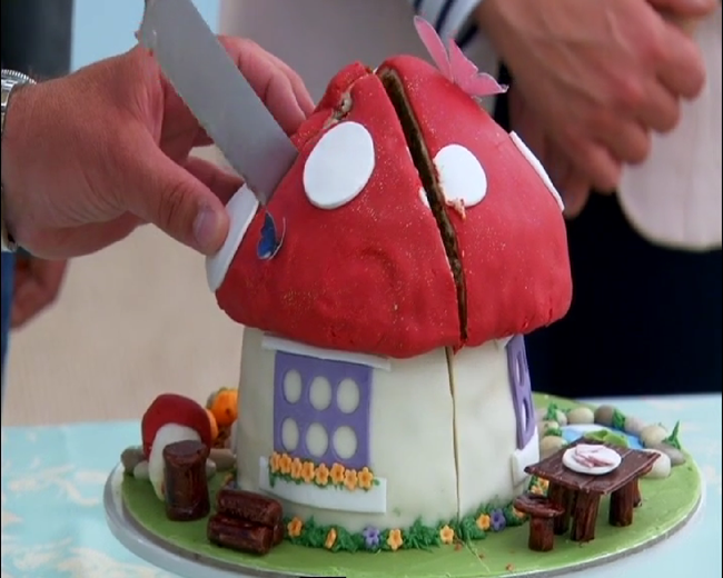 The Great British Bakeoff Shut Up Ruby Kimberleys Toadstool Ernut Squash Ed Cake