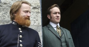 Programme Name: Ripper Street - TX: n/a - Episode: n/a (No. 8) - Embargoed for publication until: n/a - Picture Shows:  Artherton (DAVID WILMOT), Edmund Reid (MATTHEW MACFADYEN) - (C) Tiger Aspect - Photographer: Steffan Hill