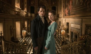 Anna Maxwell Martin and Matthew Rhys as Elizabeth and Mr Darcy in Death Comes to Pemberley