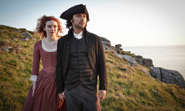 Ross and Demelza. Photograph: Mike Hogan/BBC/Mammoth Screen