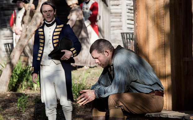 David Dawson and Russell Tovey in Banished, Image BBC