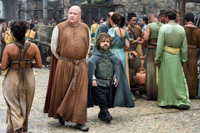 Tyrion sees Varys off on a mission in episode 8 of season 6 of Game of thrones