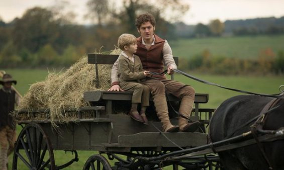 Francis and his son at the harvest in episode 3 of Poldark