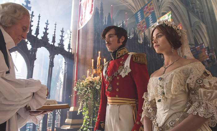 Victoria and Albert at their wedding in episode 5 of Victoria