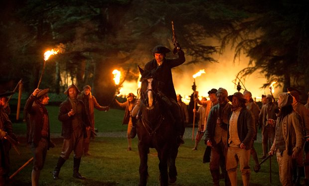 Ross disperses a mob in Poldark season 2 episode 10