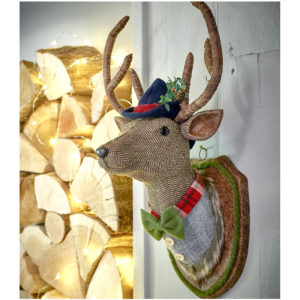 stuffed stag wall decoration