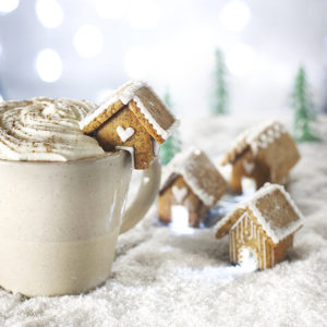 tiny gingerbread cottages