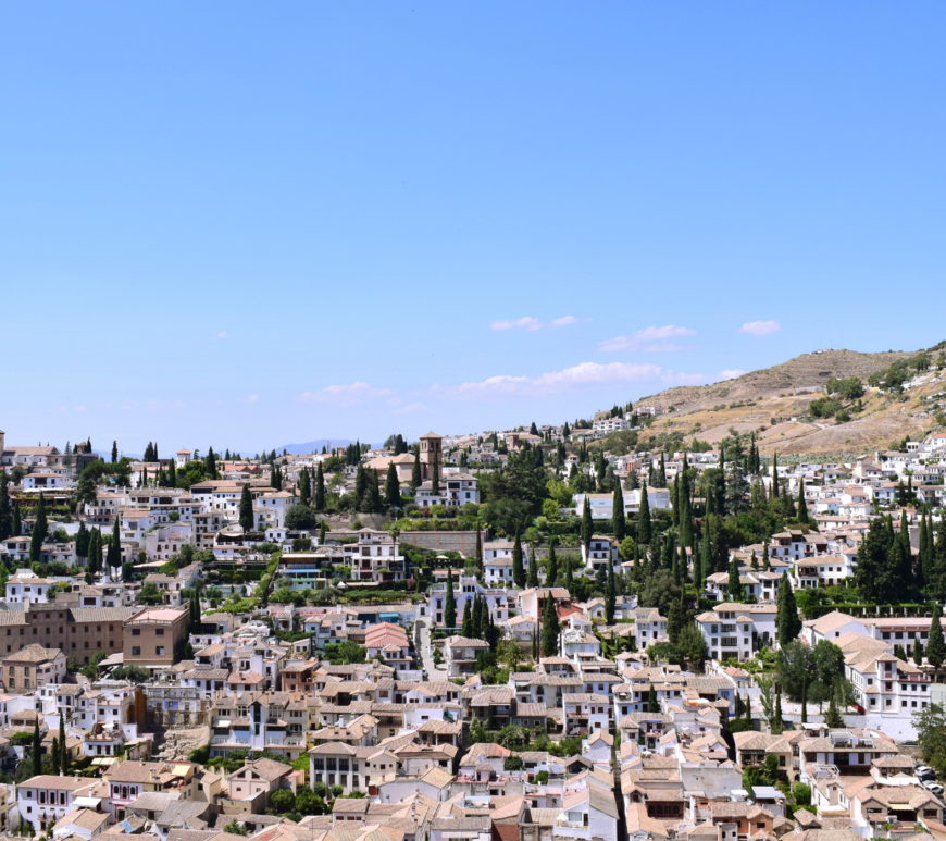 The Albaicin district, from the Alhambra