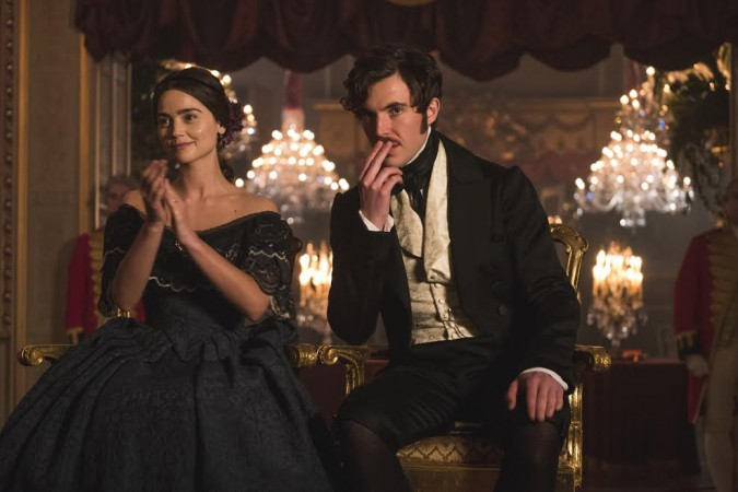 Victoria applauds while Albert pouts